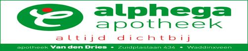 alphega apotheek van der dries nieuwe logo sponsor gered