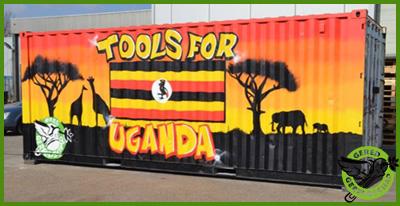 Kleurrijke container Oeganda